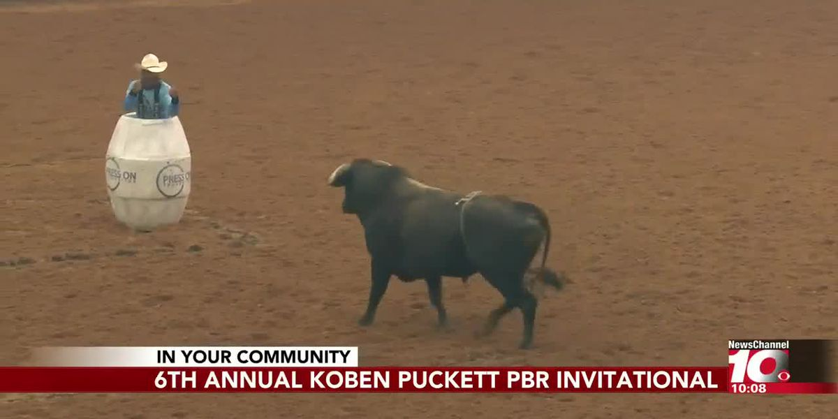 Professional Bull Riders compete in the Koben Puckett PBR Invitational