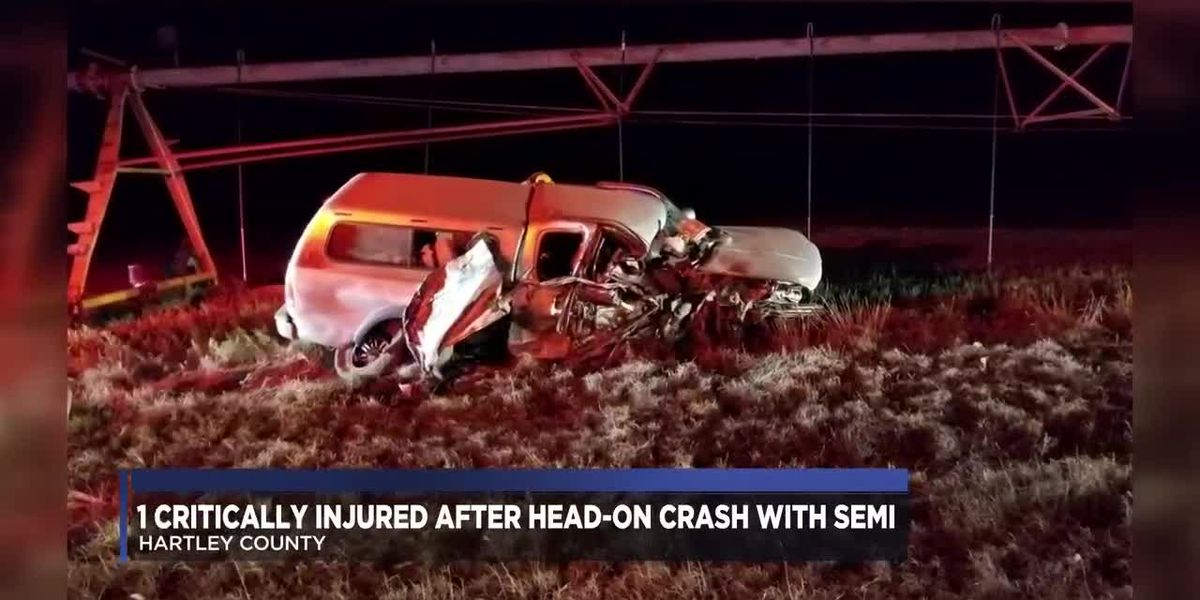 One man has been hospitalized with critical injuries after a head-on collision in Hartley County