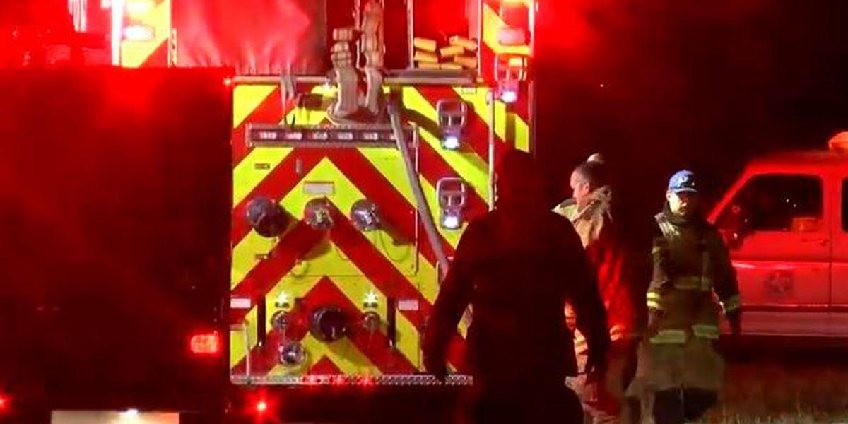 Fire destroys trailer home on N. Fillmore