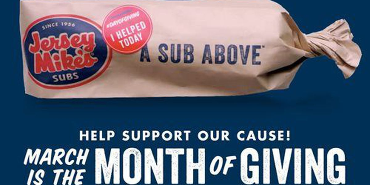 Jersey Mike's kicks off Month of Giving for Children's Miracle Network
