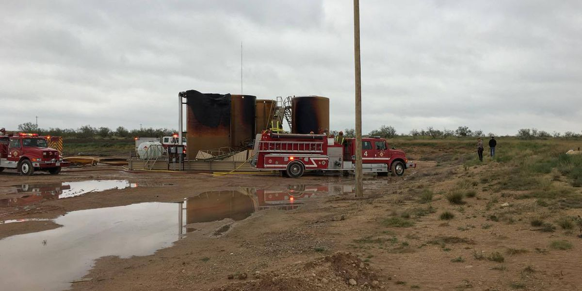 Multiple fire crews responding to fire at tank battery farm