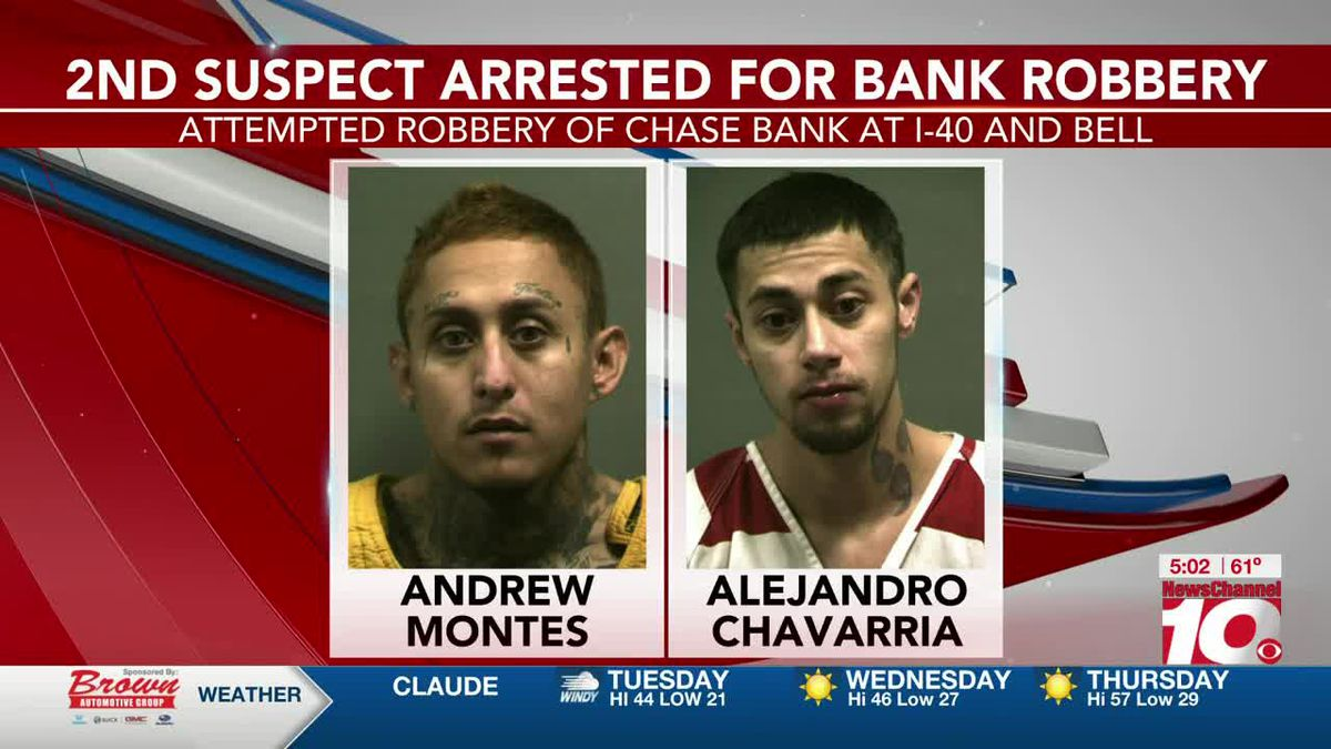 VIDEO: Amarillo police arrest 2nd person in robbery of Chase Bank