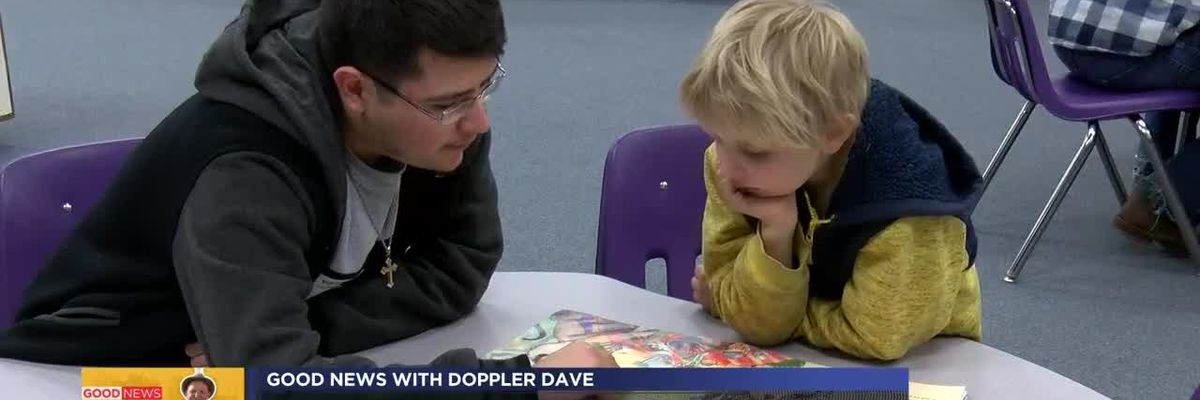Doppler Dave talks with volunteers with the Good News Gang