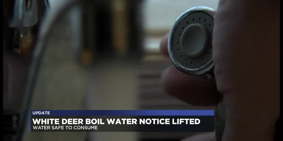 Boil water notice in White Deer lifted
