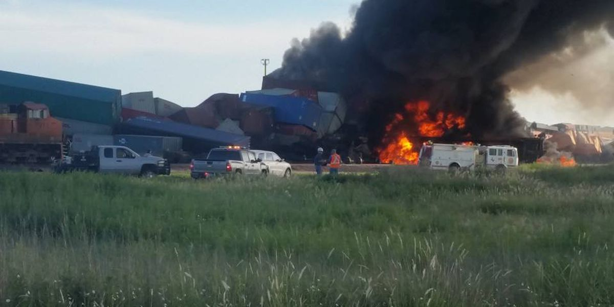 Rescue efforts underway for 3 railroad employees after trains collide near Panhandle, TX