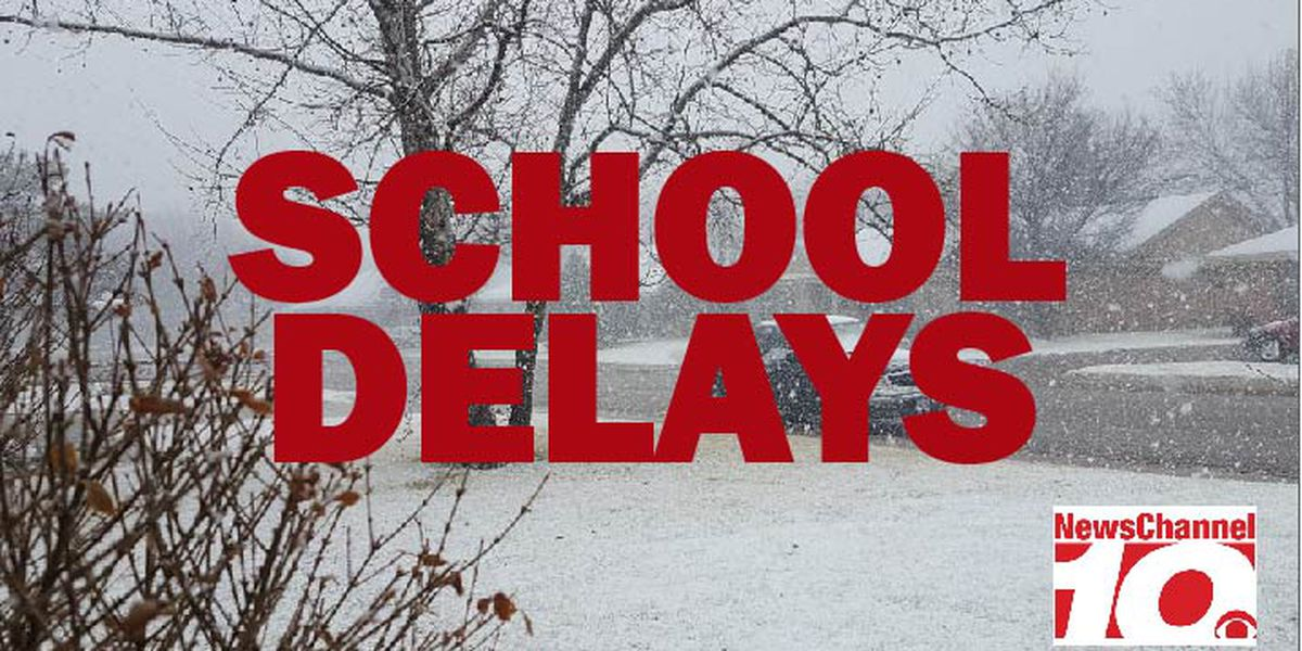 Area school delays for Monday, March 4