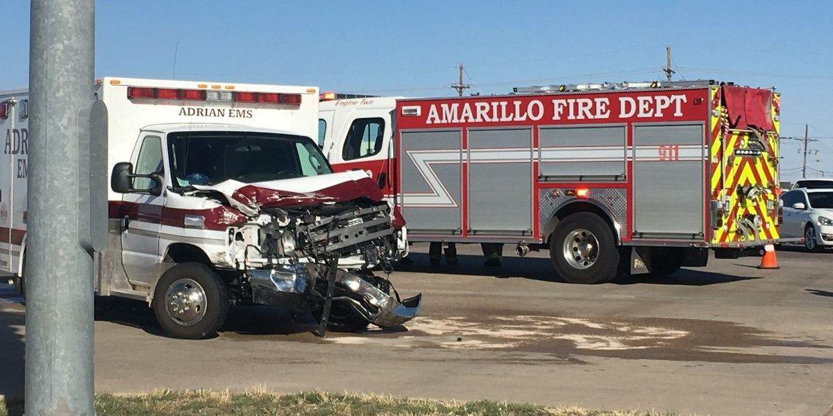 Wreck involving ambulance sends 2 to the hospital