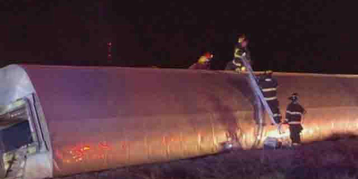Kansas train derailment passengers critically injured airlifted to Amarillo hospital