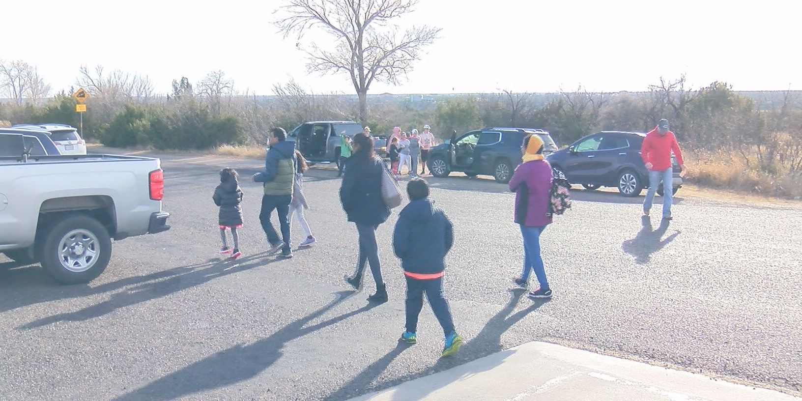 Families spend Christmas outdoors at Palo Duro Canyon