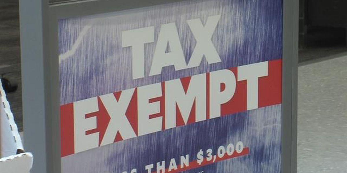 Buy emergency supplies tax free this weekend