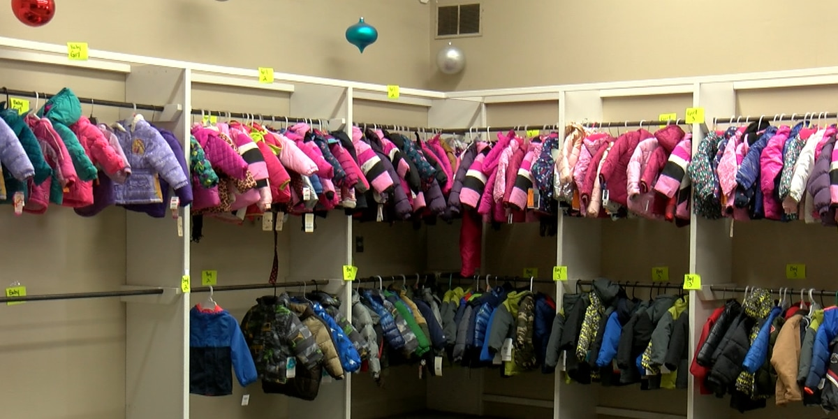 Eveline Rivers coat room in need of coats for young children
