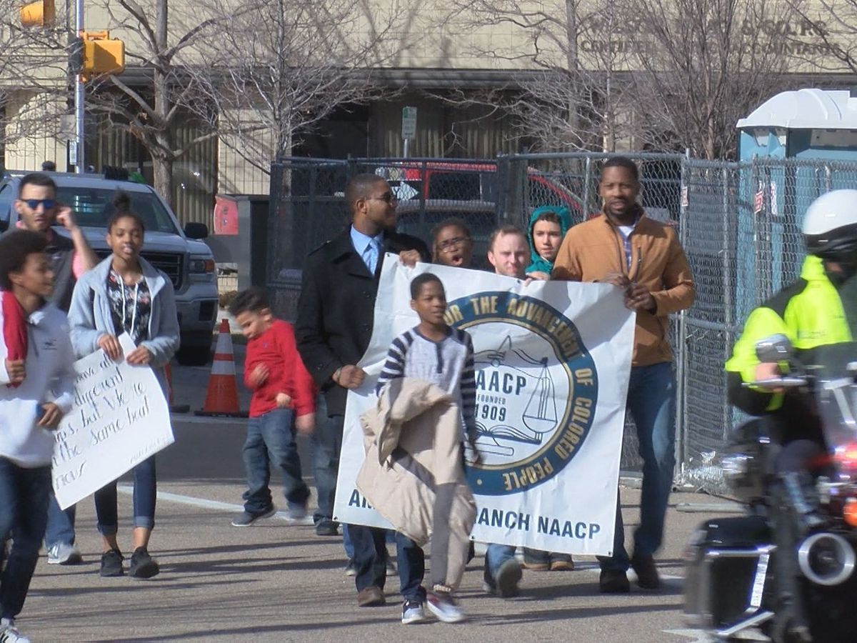 Amarillo community marches in honor of Dr. Martin Luther King Jr.