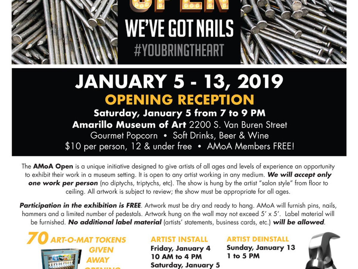 Artists invited to participate in Amarillo Museum of Art open exhibition