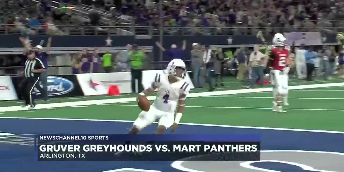 The Mart Panthers routed the Gruver Greyhounds 76-33 on Wednesday night at AT&T Stadium in Arlington