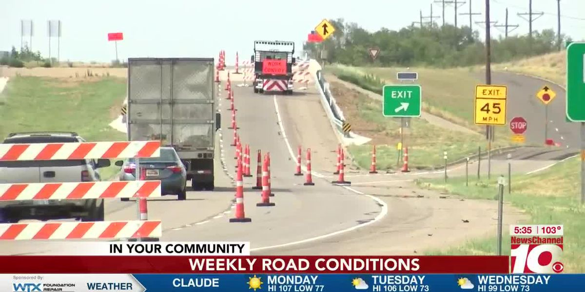 Amarillo area lane closures