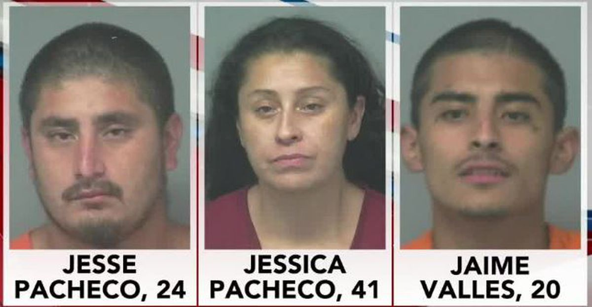 3 arrested after authorities find disguised stolen vehicle at