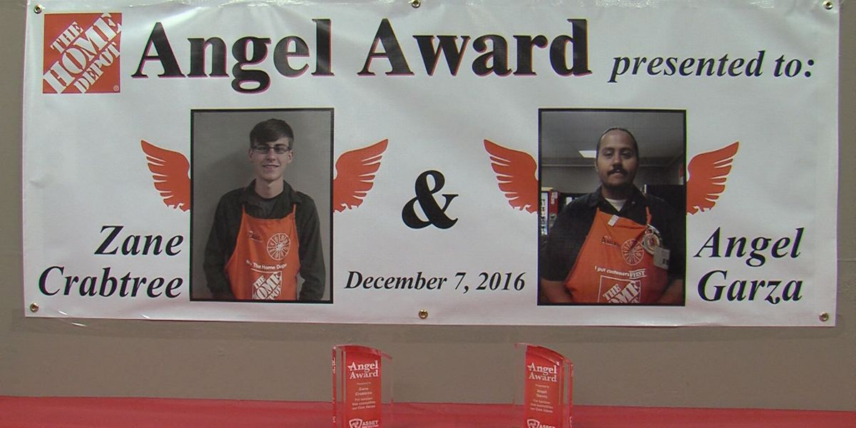 Amarillo Home Depot employees receive awards for saving man's life