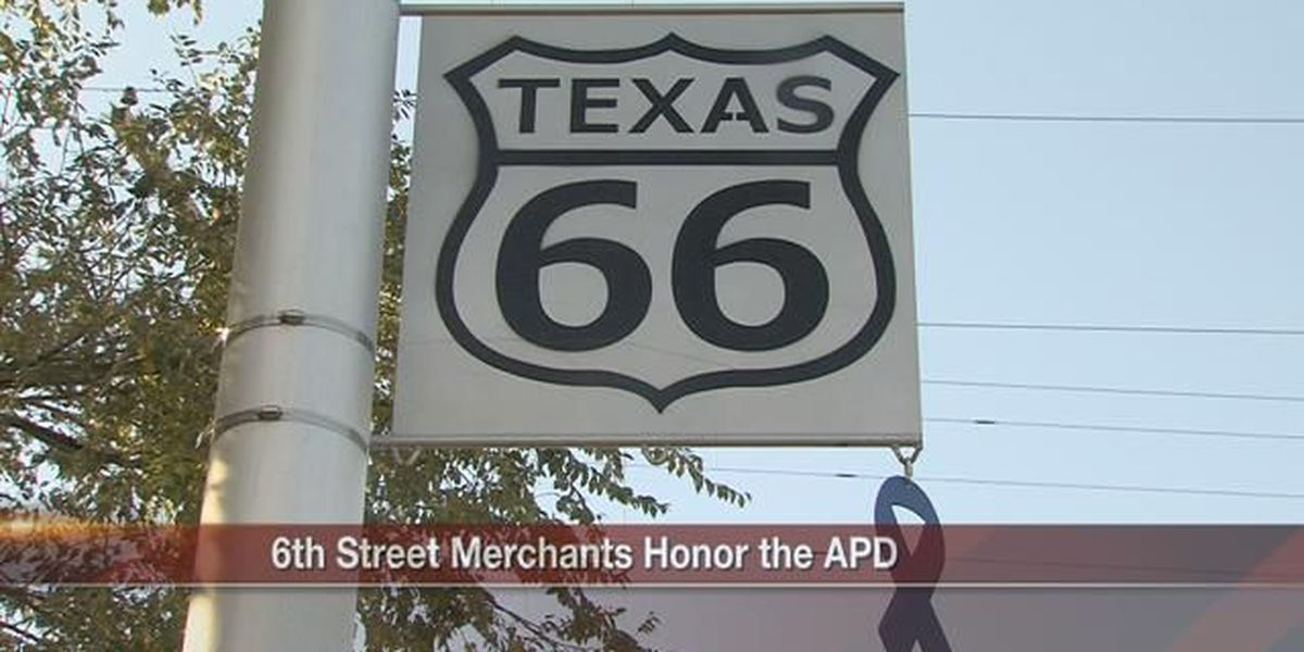 Route 66 merchants show support for Amarillo police