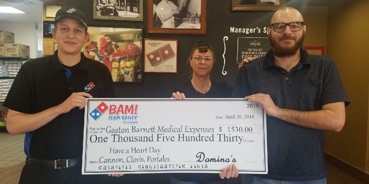Eastern New Mexico Domino's restaurants raise more than $1,500 for veteran with cancer
