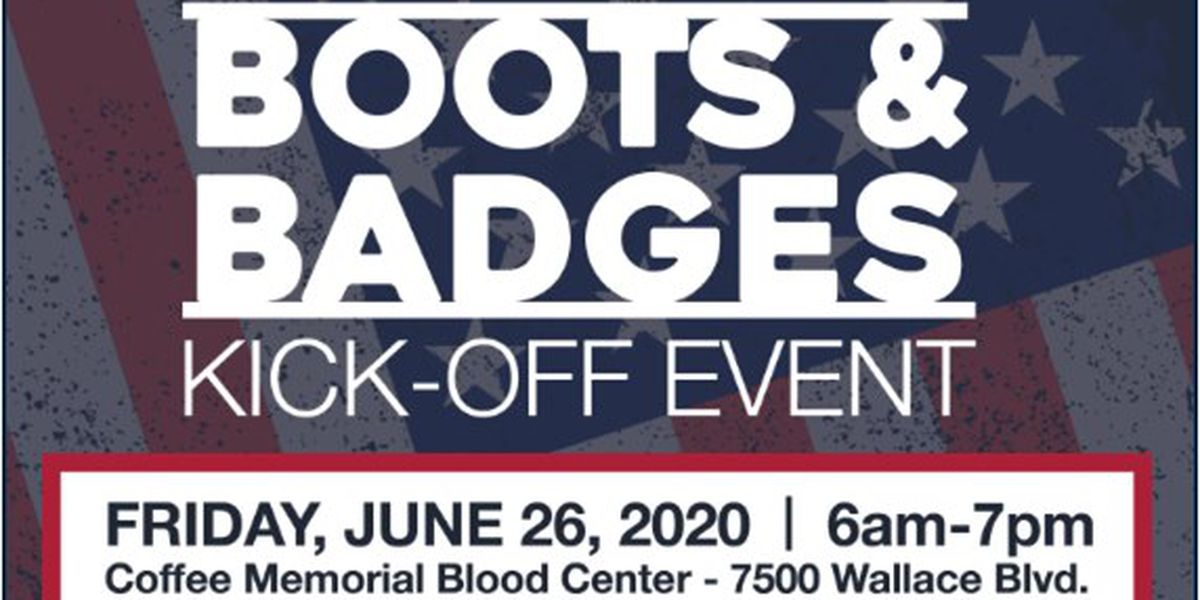 13th Annual Boots and Badges Blood Drive Kickoff happening Friday
