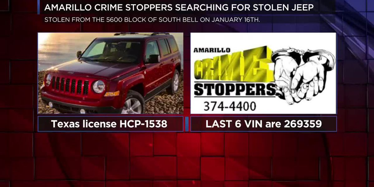 VIDEO: Amarillo Crime Stoppers asking for help locating stolen Jeep Patriot
