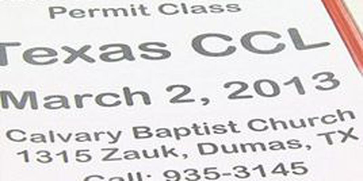 Area church offers concealed carry class