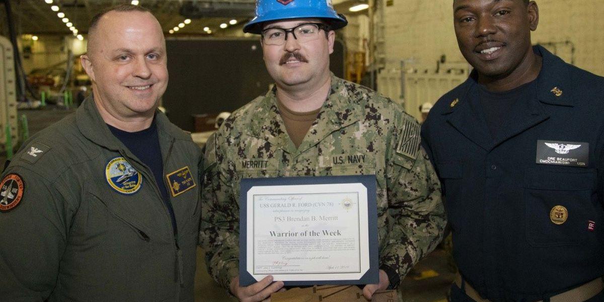 Amarillo man serving in U.S. Navy receives Warrior of the Week award