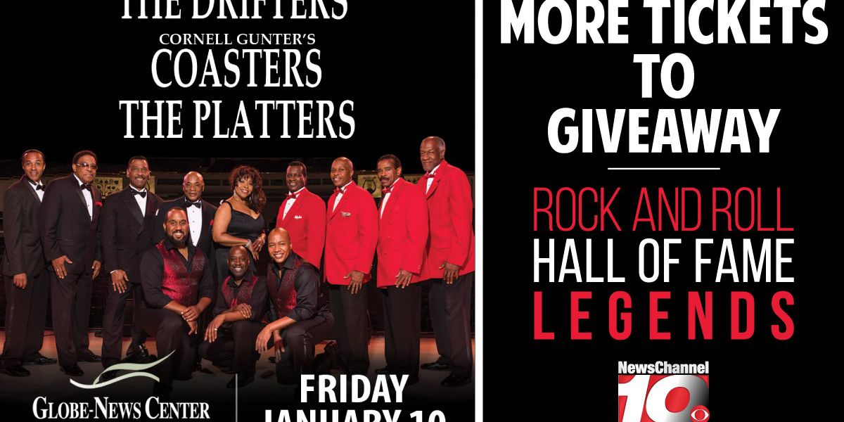 TICKET GIVEAWAY! The Drifters, The Coasters & The Platters
