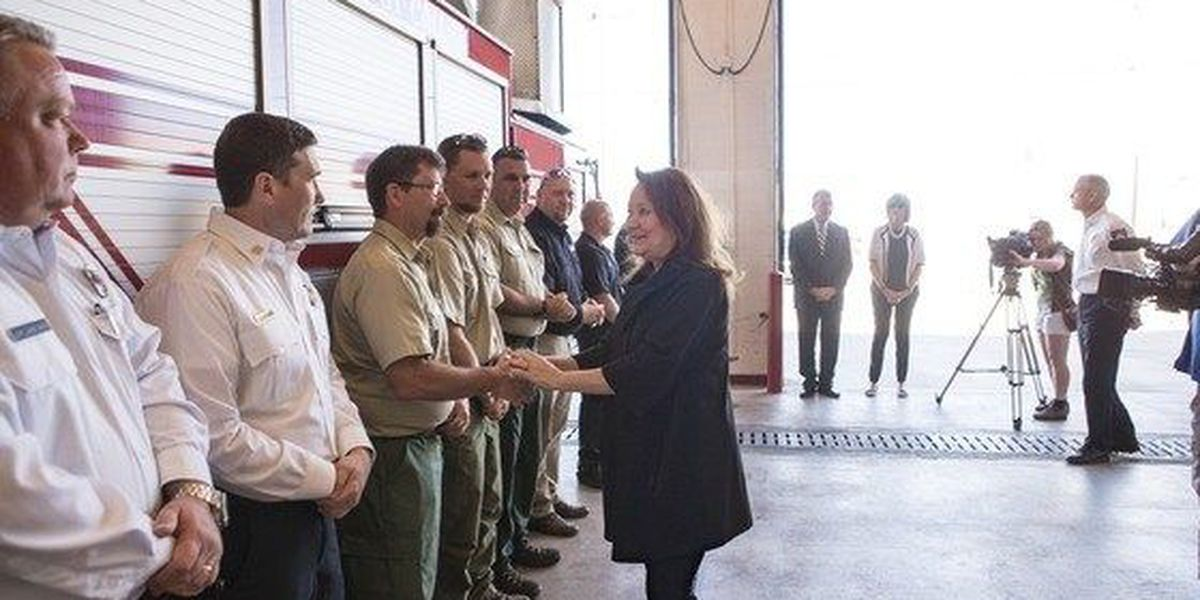 First Lady Abbott visits with Amarillo's First Responders