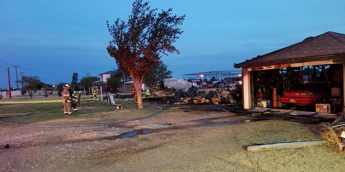 Officials investigating cause of fire that burned Canyon mobile home