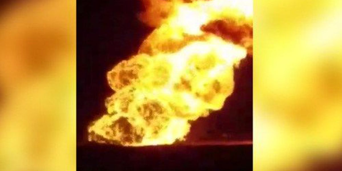 Natural gas pipeline explosion outside of Spearman