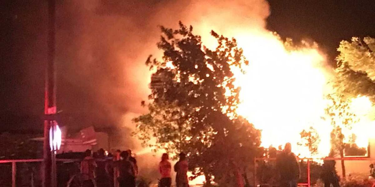 Firefighters battled double wide trailer home fire in North Amarillo