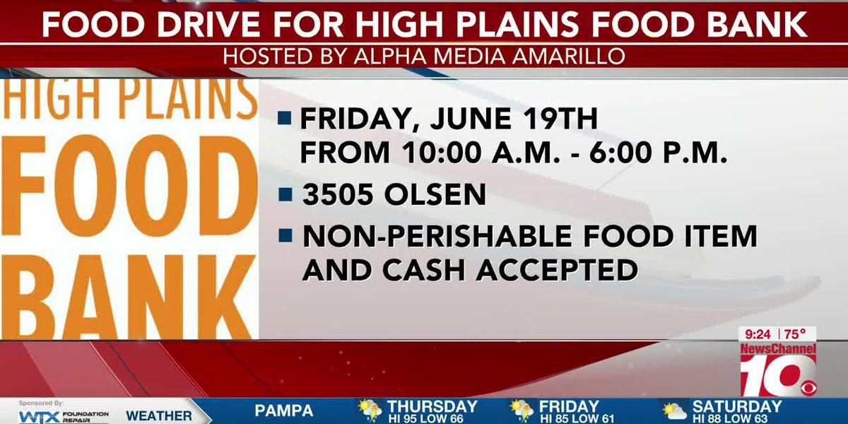 INTERVIEW: Johnny Black talks about a food drive for High Plains Food Bank