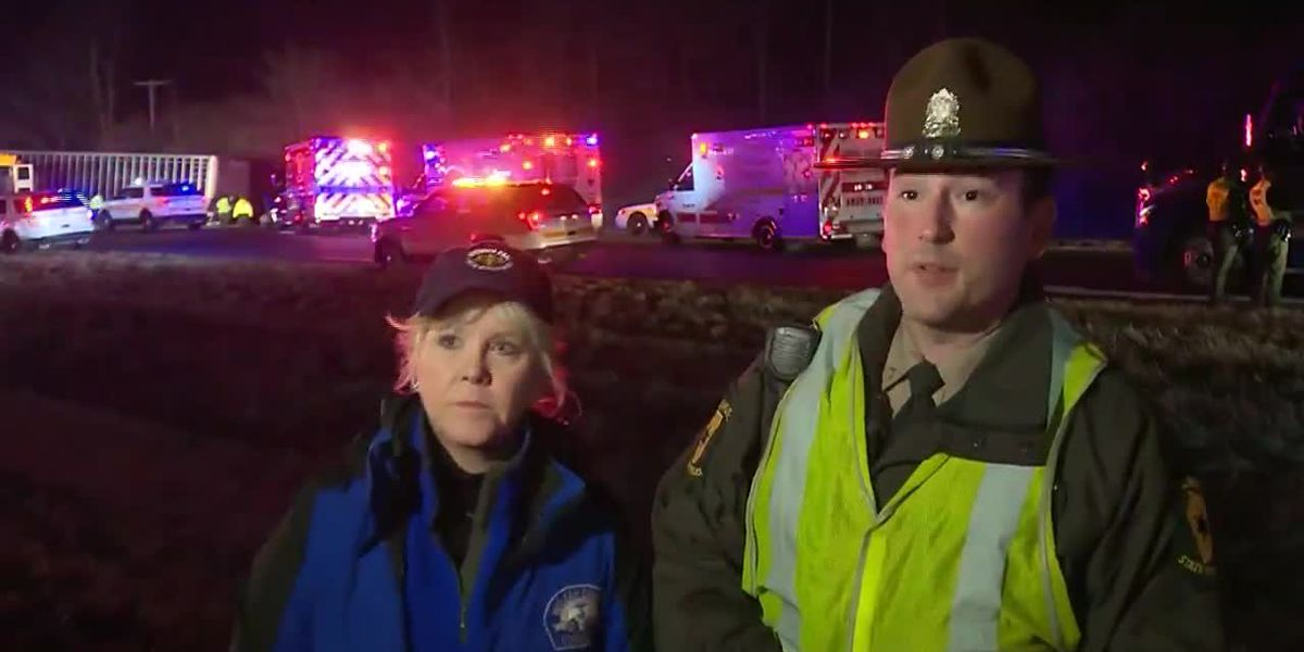 Trooper credits assistance in response to deadly semi-school bus wrong-way crash