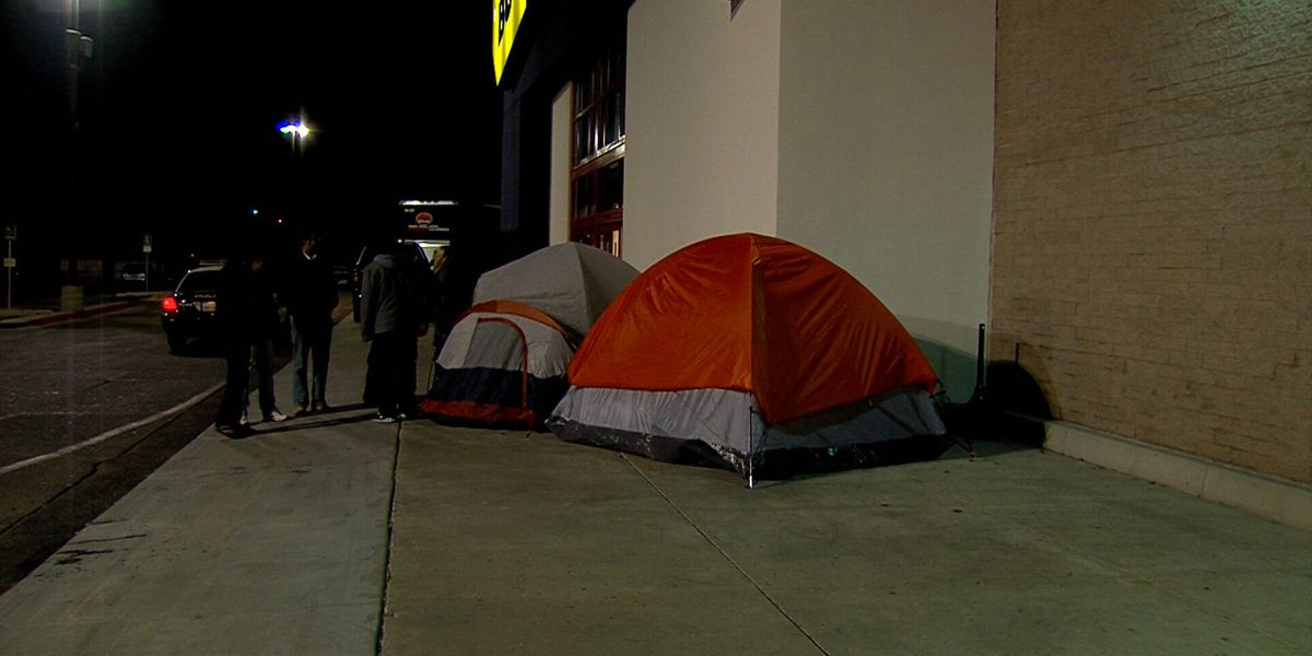 Black Friday shoppers camp out