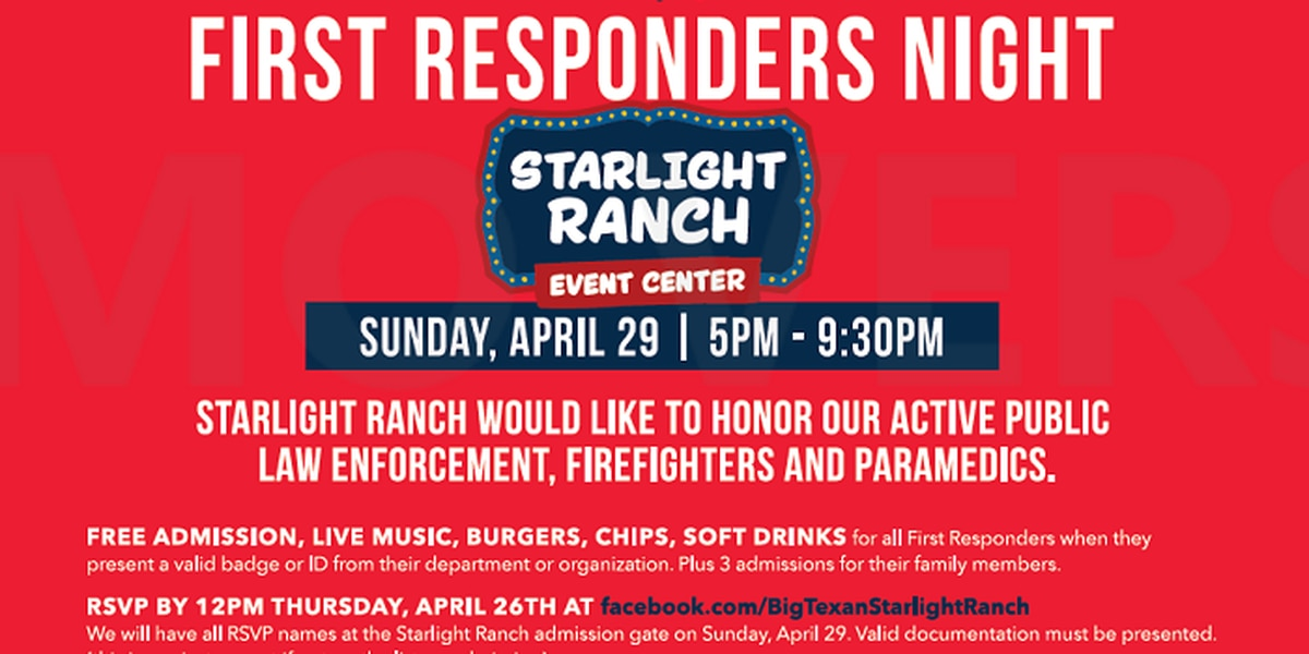 Starlight Ranch will honor emergency workers at 'First Responders Night'