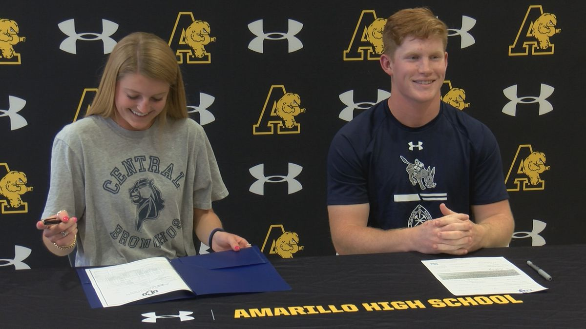 Amarillo High honors Brock Ewing and Gracie Polster on signing day