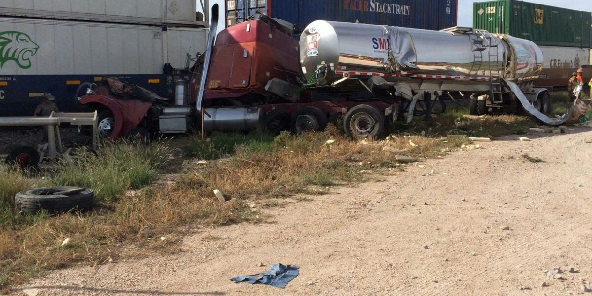 Train, semi-truck collide in Dallam County