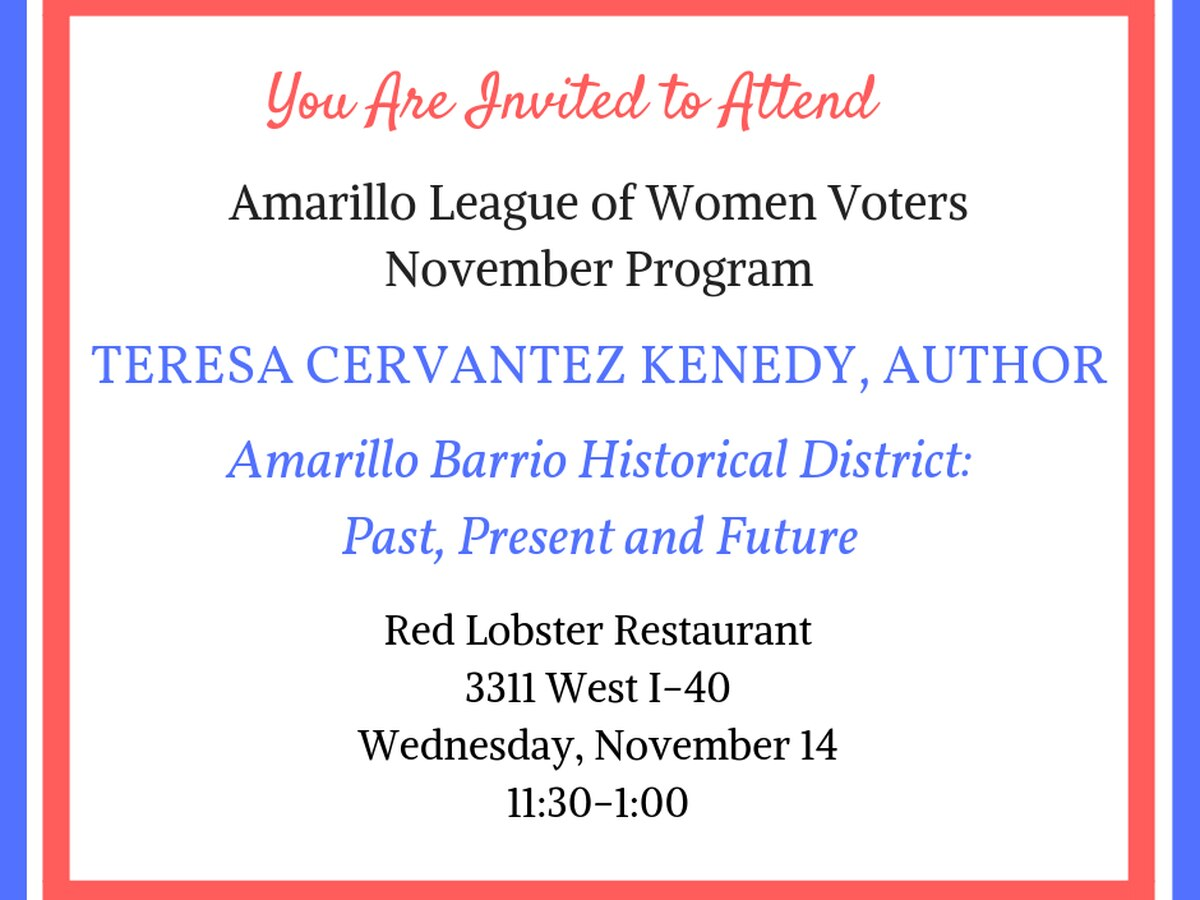 League of Women Voters hosting program on history of Amarillo Barrio