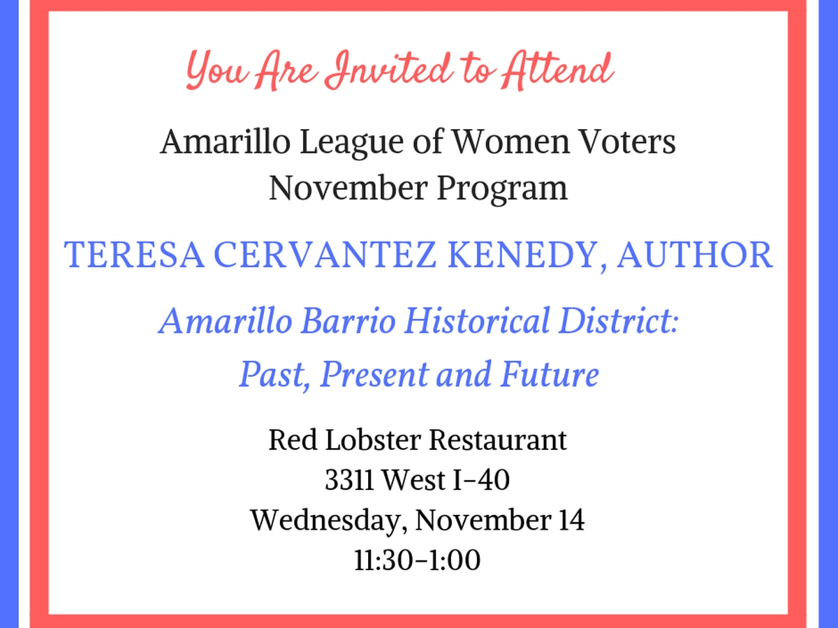 League of Women Voters hosting program on history of Amarillo Barrio