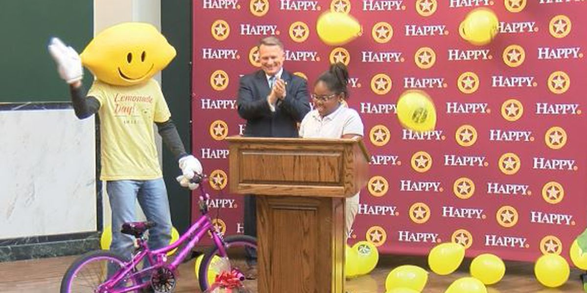 Elementary student finds inspiration on Lemonade stand