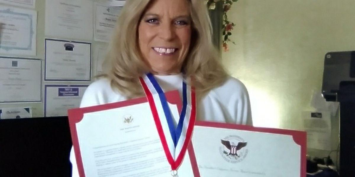 President Donald Trump awards Amarillo woman 2020 President's Volunteer Service Award